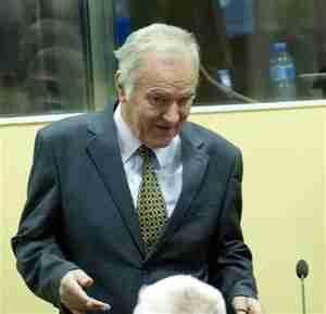 Ratko Mladic on Wednesday (Reuters)
