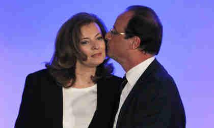 François Hollande and Valérie Trierweiler