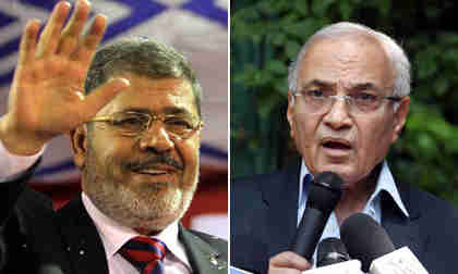Mohammed Morsi and Ahmed Shafeq