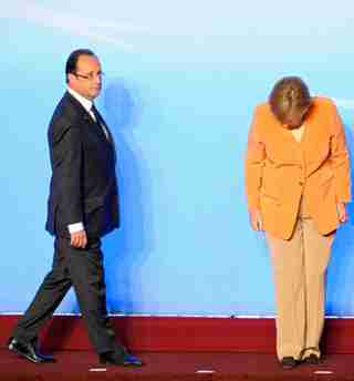 Hollande and Merkel (DAPD)