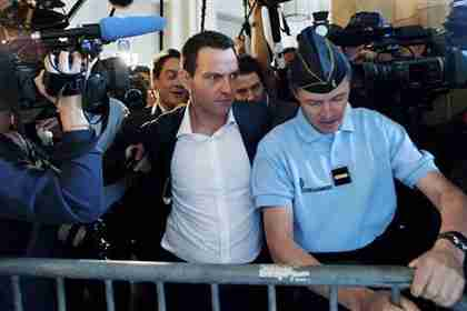 J�r�me Kerviel arrives in court on Monday (Reuters)