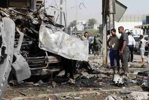 Car bomb attack in Iraq on Wednesday (AP)