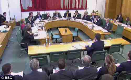 Bob Diamond being questioned on Wednesday by British MPs (BBC)