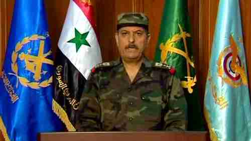 General Fahad Jassim al-Freij, Syria's new Defense Minister, on state TV on Wednesday (SANA)