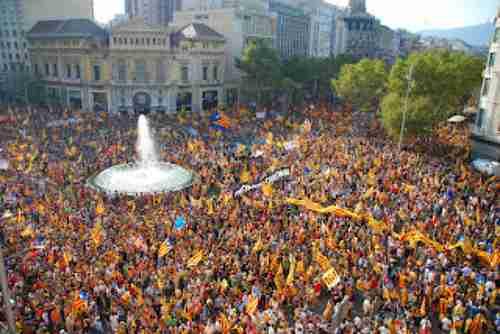 Barcelona celebrates Catalan National Day (September 11)