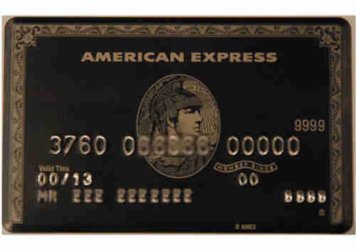 Elite American Express 'Black Card'