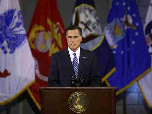 Mitt Romney at VMI on Monday
