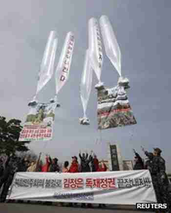 Previous South Korean balloon launch (Reuters)