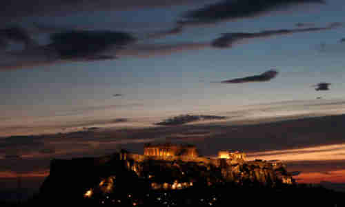Acropolis in Athens, Greece, at night (Reuters)