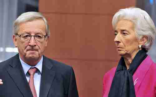 Jean-Claude Juncker and Christine Lagarde on Tuesday