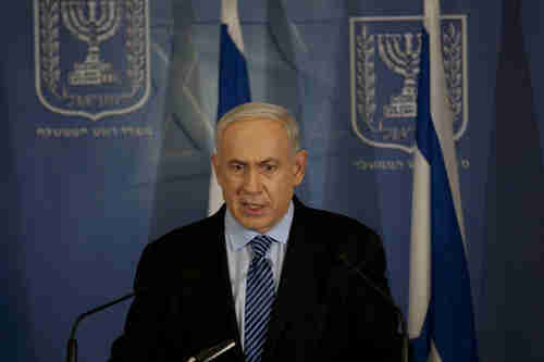 Benjamin Netanyahu in Tel Aviv on Wednesday