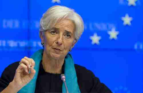 IMF chief Christine Lagarde at Tuesday 2 am press conference