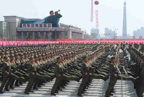 North Korean military parade, 4/15/2012 (AP)