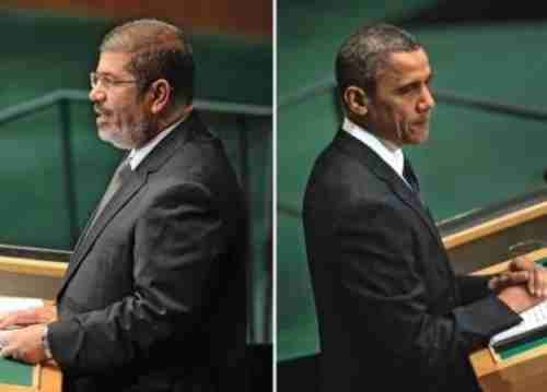 Mohamed Morsi and Barack Obama