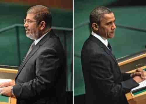 Mohamed Morsi and Barack Obama