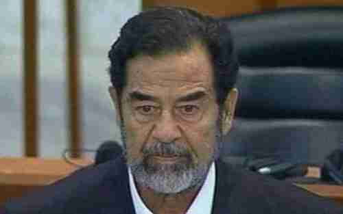 Saddam Hussein, in the last days of his trial, who was convicted and hanged for crimes that included using sarin and mustard gas on the Kurds (AP)