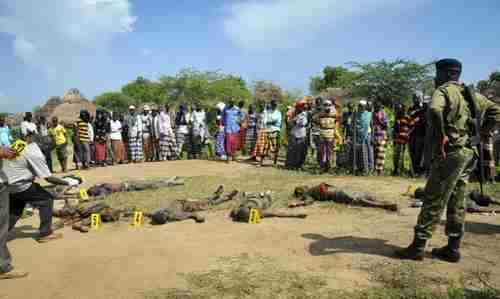 Massacre victims in Kenya