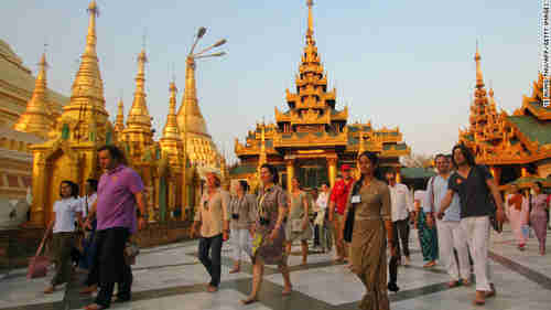 The Shwedagon Pagoda in Yangon, Burma, in April (CNN)