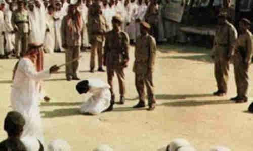 Saudi Swordman prepares to behead convict (Al-Ahram)
