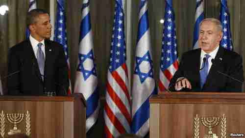 Obama and Netanyahu in Jerusalem on Wednesday