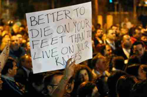 Protesters in Cyprus: 'Better to die on your feet than to live on your knees'