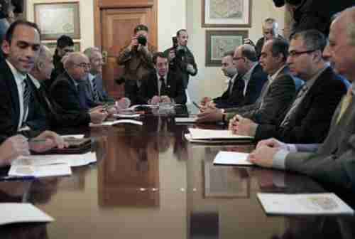 Cyprus's president leads overnight financial crisis talks (Kathimerini)