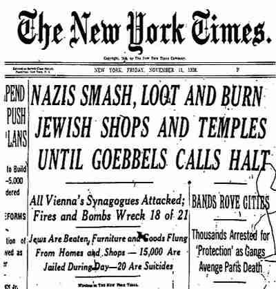 NY Times, Nov 11, 1938
