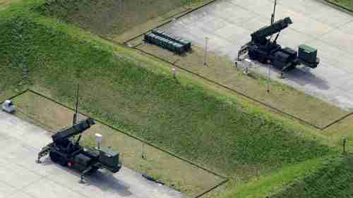 Anti-missile systems deployed Tuesday in Japan's Camp Narashino (Kyodo)