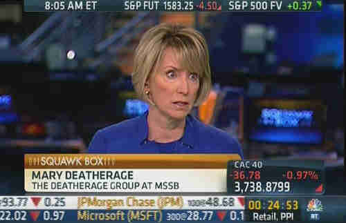 Mary Deatherage on Friday (CNBC)