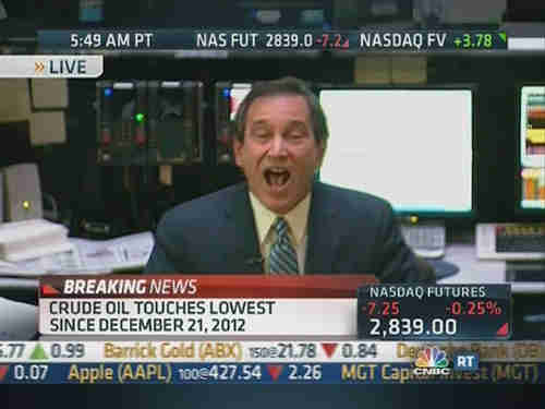 Rick Santelli discussing deflation on Monday morning (CNBC)