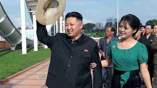 North Korean child dictator Kim Jong-un and wife Ri Sol-ju