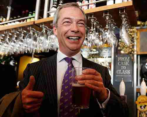Jubilant UKIP leader Nigel Farage