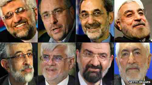 Iran's eight approved candidates (BBC)