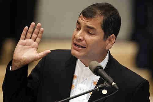 Rafael Correa, protecting rapists and traitors (Reuters)