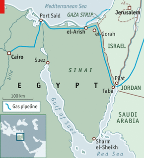 Map of Sinai (Economist)
