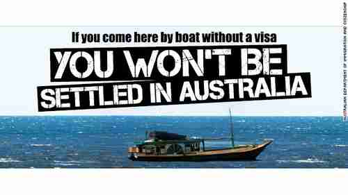 Australian ad warning boat people to stay away (AFP)