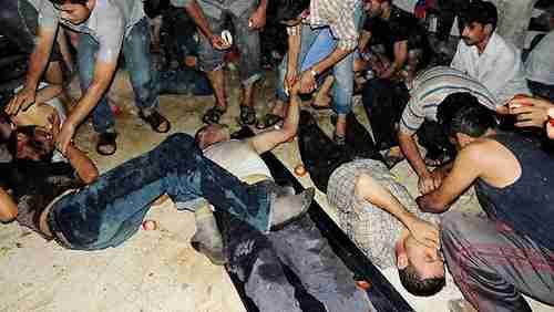 Victims of chemical weapons attack in Syria