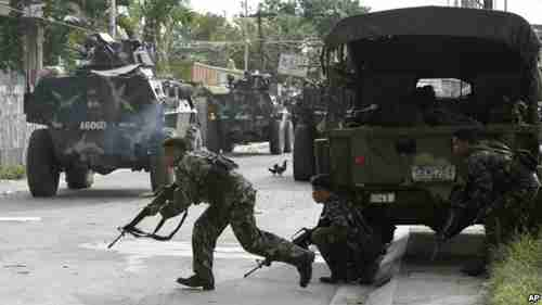 Philippine troops clash with MNLF terrorists on Thursday (VOA)