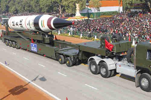 India's Agni-V missile (EPA)