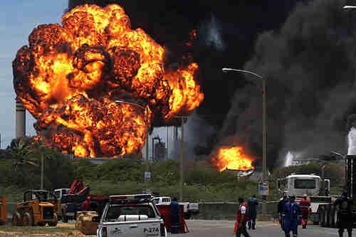Venezuela's Amuay Refinery explosion, August 25, 2012