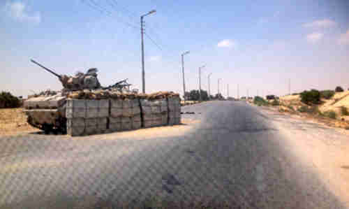Army checkpoint in Sinai in mid-July (Reuters)