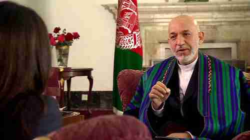 Hamid Karzai on Monday (BBC)