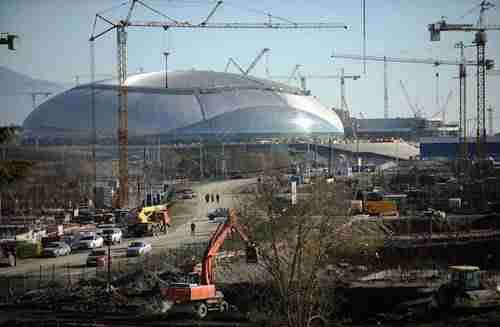 Sochi 2014 Olympics site construction (AFP)