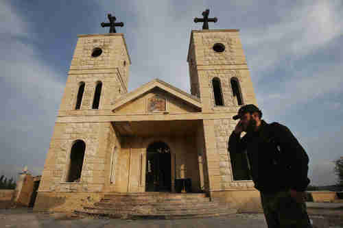 Bombed out Christian Church in Idlib province in Syria (AP)