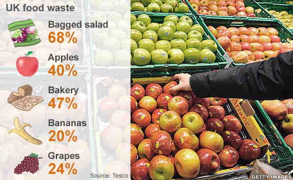 UK food waste figures (BBC/Getty)