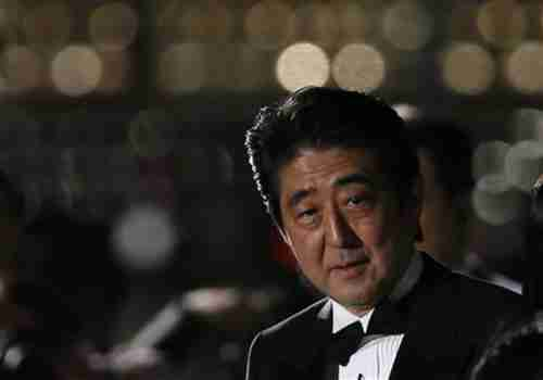 Shinzo Abe last week (Reuters)