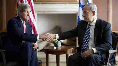 John Kerry and Benjamin Netanyahu (AFP)