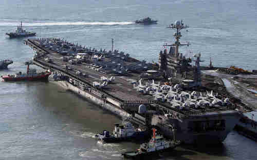 USS George Washington nuclear powered aircraft carrier