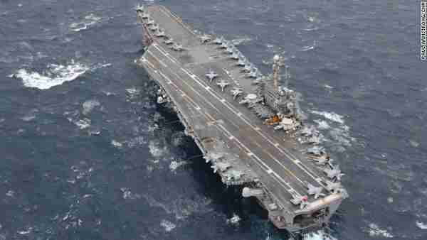 USS George Washington nuclear powered aircraft carrier off Okinawa