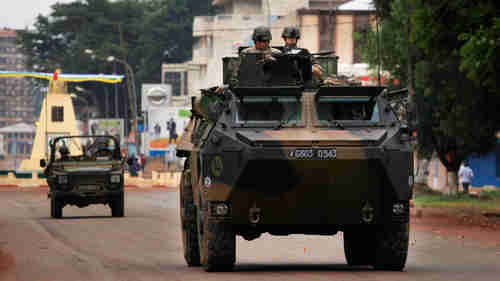 French troops in armored vehicle in Bangui on Friday (Reuters)